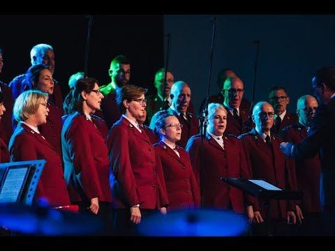 Mannenkoor Dronten en Staff Songsters bij jubileumconcert Leger des Heils