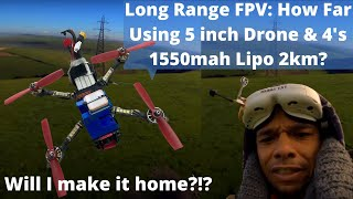 Long Range FPV: 2.3km How Far Can You Fly Using 4's 1550mah 5 inch Drone Build Beitian 880Q GPS Mod