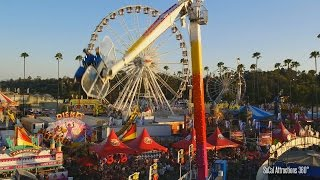 [HD] View of the L.A County Fair 2015 via Sky ride - Largest County Fairs in America