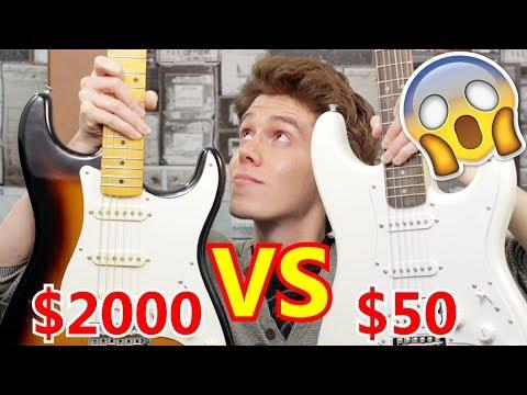 $50 VS $2000 Stratocaster | Fender Signature VS Squier Stratocaster | Comparacion