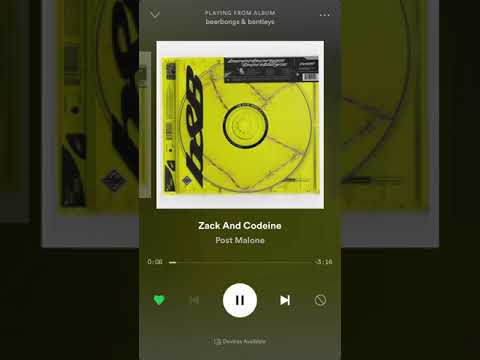 Post Malone - Zack And Codiene