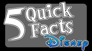 5 Quick Facts - Disney Voice Actors