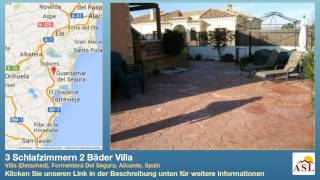 preview picture of video '3 Schlafzimmern 2 Bäder Villa zu verkaufen in Villa (Detached), Formentera Del Segura, Alicante'
