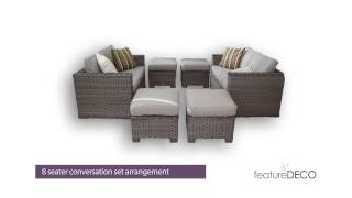 featureDECO Versatility Sofa Cube Rattan Furniture