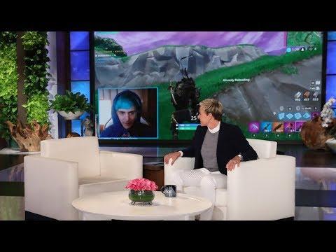 Ellen Makes Surprise Cameo During Ninja's 'Fortnite' Livestream