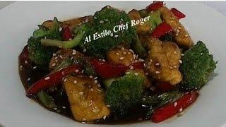 POLLO TERIYAKI, Receta # 299, teriyaki, Pollo con Verduras estilo Chino