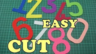 How to cut Numbers without template - EASY