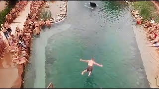 JUMP INTO WATER GONE WRONG