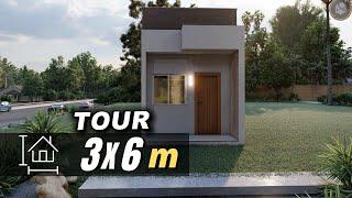 KITNET COM MEZANINO RAIZ 3x6   STUDIO 3X6   LOFT 3X6 para alugar   casa minimalista