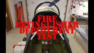 RV Aircraft Video - Fire Extinguisher Deployment Test