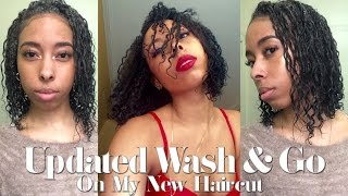 Updated Wash And Go (On My New Haircut)