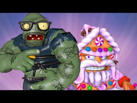 Gingerbark House vs Giga Gargantuar in Plants vs Zombies Garden Warfare 2