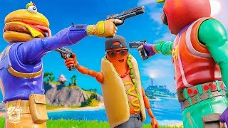 HOTDOG JOINS the FOOD FIGHT! *The BRAT ORIGIN STORY* (A Fortnite Short Film)
