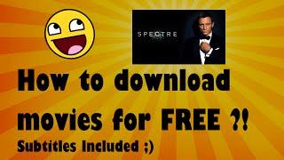 Hoe GRATIS Films (met ondertiteling) Donwloaden?!