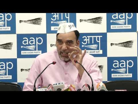 AAP Delhi Convenor Gopal Rai Exposed Delhi BJP President's Lies on Statehood for Delhi with Evidence