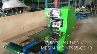 Mesin Pembuat Mie Keriting Seri KT 955-C3.1B dari Bayoran Teknik