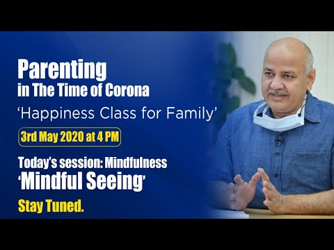 Mindfulness - Mindful Seeing || Daily Happiness Class for Families ||