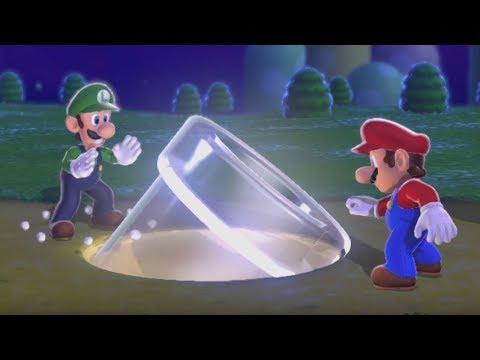 Super Mario 3D World 100% Walkthrough - World 1 (3 Players)