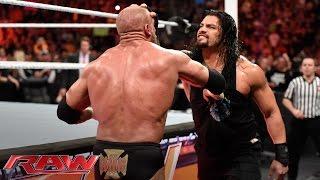 Roman Reigns brutalizes Triple H: Raw, March 14, 2016