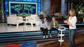 Football Superfans Play 'Super Bowler Holey Roller'