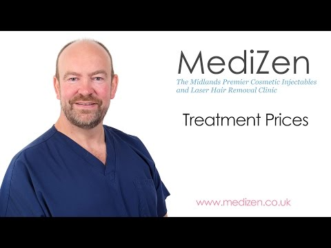 Treatment Prices at MediZen Cosmetic Clinic, West Midlands