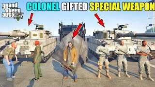 GTA 5 : MILITARY COLONEL GIFTED SPECIAL WEAPON TO MICHAEL || BB GAMING