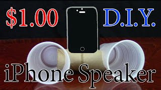 $1 DIY iPHONE SPEAKER  | Recyclable HouseHold items