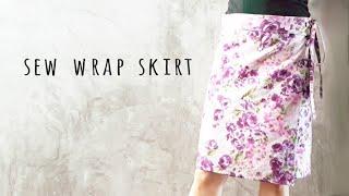 DIY Sew A-line Wrap Skirt