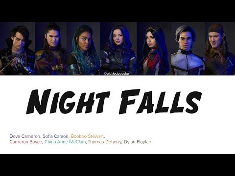 Night Falls - Descendants 3 Cast (Color Coded Lyrics)