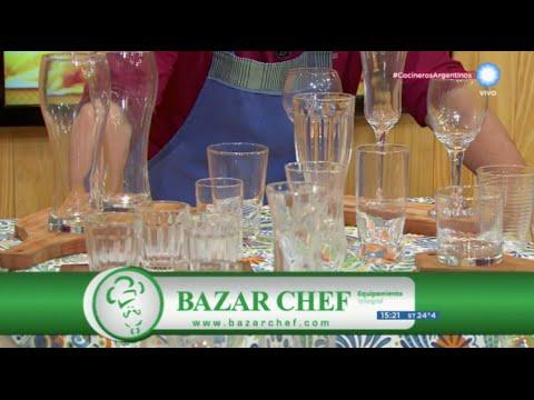 Cristalería en Bazar Chef