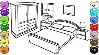 Mom and Dad's Bedroom | Coloring Pages for Children