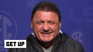 Ed Orgeron reacts to LSU's No. 1 CFP ranking and win vs. Alabama   Get Up