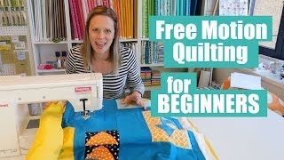 Beginner Free Motion Quilt Tutorial On A Home Machine 2019