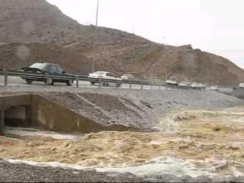 أمطار وادي بني رواحة بسمائل الثلاثاء 23 يونيو 2009