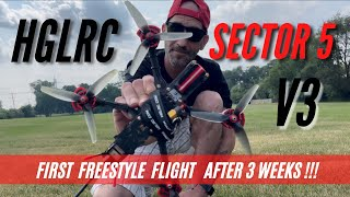 HGLRC Sector 5 V3 FPV / First Freestyle Flight After 3 Weeks Of Practice!!!