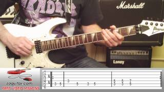 How To Play The Wall Street Shuffle by 10 CC on Guitar (main riff) + TAB