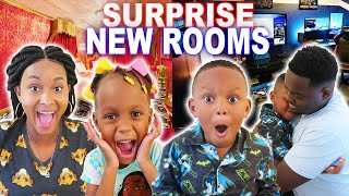 SURPRISING OUR KIDS WITH NEW ROOMS IN OUR BRAND NEW HOUSE!! (NEW ROOM TOUR 2019)