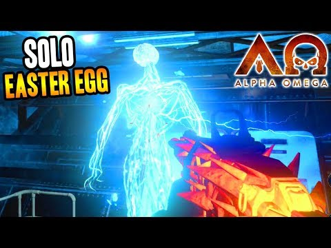 """ALPHA OMEGA"" SOLO EASTER EGG COMPLETE GAMEPLAY! (Black Ops 4 Zombies DLC 3)"