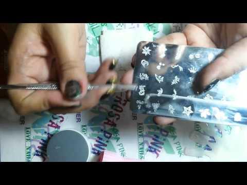 como usar las placas de sellos para uñas