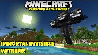 Bugrock Of The Week 17: Invisible, Immortal Wither Bosses! Minecraft Bedrock Edition