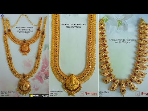 Latest Designer Gold Necklace With Weight