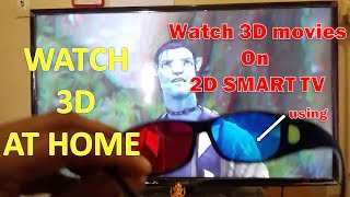 Watch 3D movies on Samsung Smart 2D TV with Red Cyan Glasses using KODI Software