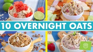 10 Creative Overnight Oats Flavors! Healthy Breakfast Recipes