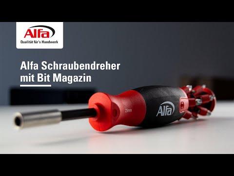 Alfa Schraubendreher mit Bit Magazin