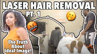 Laser Hair Removal pt. 1| Ideal Image| Full Brazilian