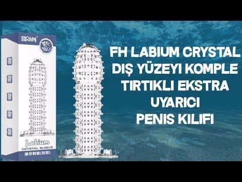 FH Labium Crystal Dış Yüzeyi Komple Tırtıklı Ekstra Uyarıcı Penis Kılıfı