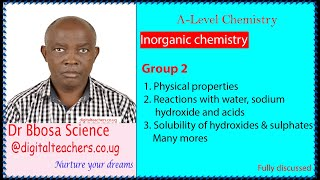 Group 2 elements -A level inorganic chemistry
