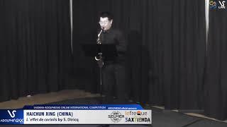 Haichung XING plays L´effect de coriolis by S. Diricq #adolphesax