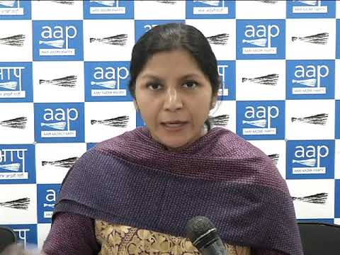 Aap Women Wing President Richa pandey Briefs on 41 minor girls rescued from an Ashram by DCW chief