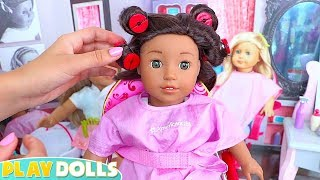 American Girl Doll Hair Salon & Spa Day